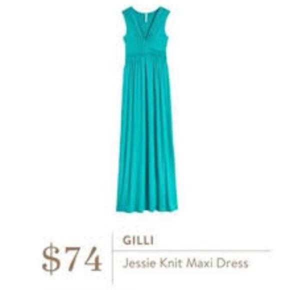 a66bbc2822d NWT Gilli Jessie Knit Maxi Dress Teal Stitch Fix M